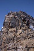 Rock Climbing Photo: Crux section