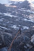 Rock Climbing Photo: Loose rock rappel!!
