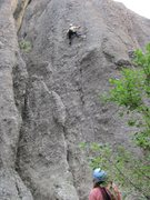 Rock Climbing Photo: Anne Meyer belaying Paul Huebner on his 3rd lead o...