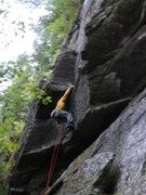 Rock Climbing Photo: Moving into the corner on Black Lips