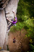 Rock Climbing Photo: pulling the last moves on creep show