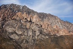 Rock Climbing Photo: The Pink Band, and the Grey Towers behind and to t...