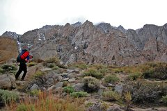 Rock Climbing Photo: Tai Devore making the slog