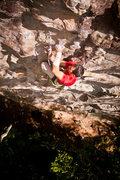 Rock Climbing Photo: making a clip on dynabolt gold