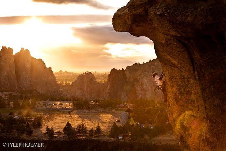 Climbing Rampage at Smtih Rock