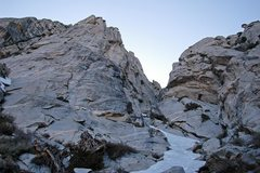 Rock Climbing Photo: Cobblers Tower from the base (left), descent gulle...