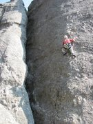 Rock Climbing Photo: Paul Huebner moving up on his tippy-toes. (Photo b...