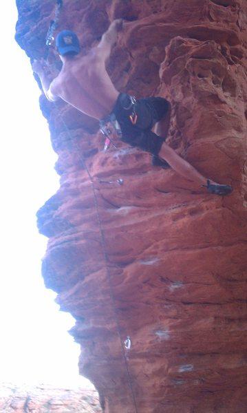 Rock Climbing Photo: 12b at turtle wall, st.george