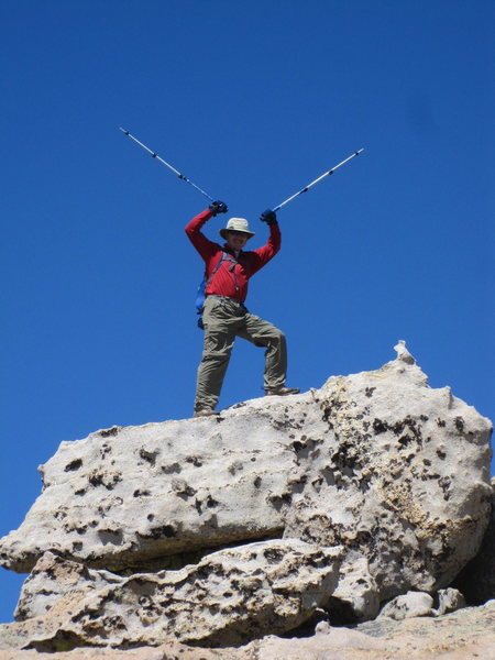 RICK WITTING completing all the named and ranked peaks in rmnp. Dundicking was the last one. sept 2011.