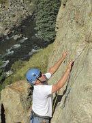 Rock Climbing Photo: Dan in Clear Creek canyon.