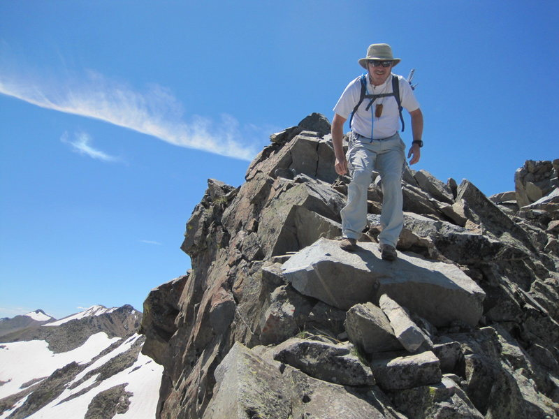 Hart ridge between Lead and Cirrus, very long and rough! Indian Peaks,<br> RMNP.