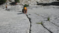 Rock Climbing Photo: Awesome hand crack on pitch 2.