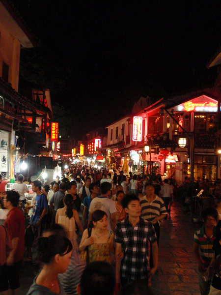 Rock Climbing Photo: Every night is a busy night on the streets on Yang...