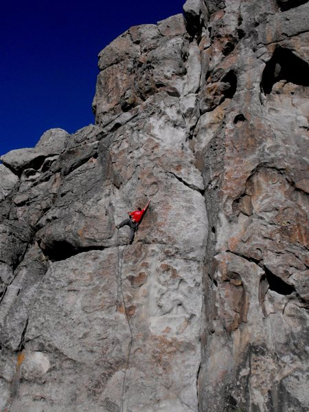 Rock Climbing Photo: Reach high...