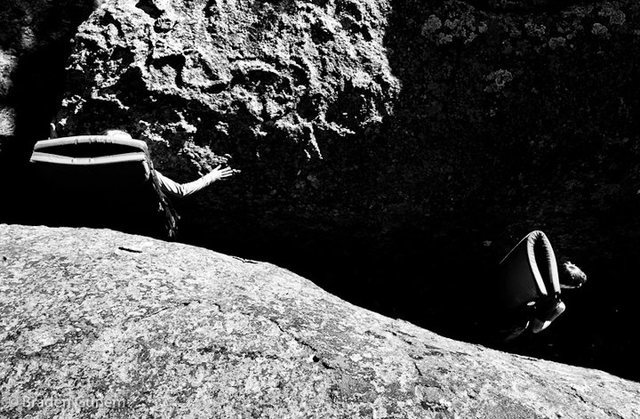 Bouldering outside of Del Norte