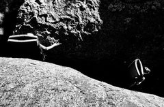 Rock Climbing Photo: Bouldering outside of Del Norte