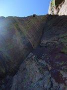 Rock Climbing Photo: Oh my god, an offwidth!