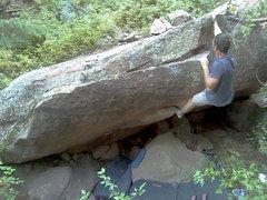 Rock Climbing Photo: Jon climbs the rock.