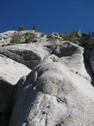 Rock Climbing Photo: Start of the route. The knobby roof (that isn't re...