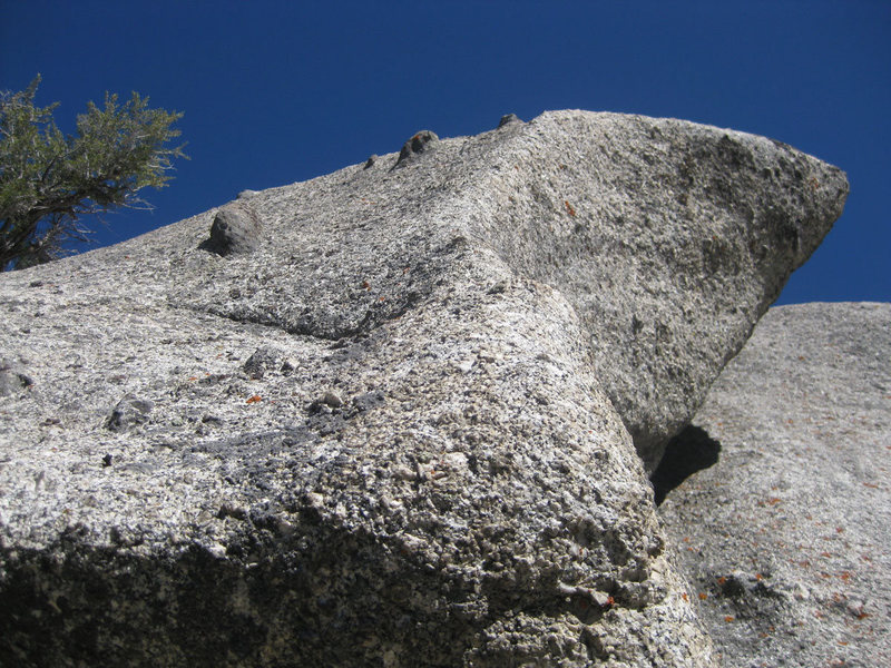 "Rock Climbing Photo: The ""knobby roof"" that looks isn't nearl..."