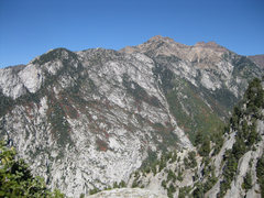 Rock Climbing Photo: LCC from the summit. The view from the top is pret...