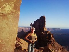 Rock Climbing Photo: Sunrise climb on Castelton Tower