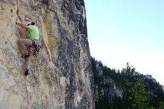 Rock Climbing Photo: Chris Pelczarski takes down Peace Pipe, 510c. Trai...