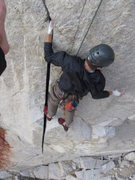 Rock Climbing Photo: Garrett at the good rest after the green-red camal...