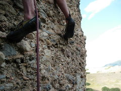Rock Climbing Photo: going to the first bolt