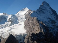 Rock Climbing Photo: The Mittellegi Ridge is the obvious ridge line.