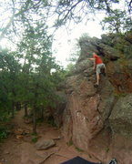 Rock Climbing Photo: Scott toppin' out the Southeast bulge.