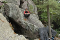 Rock Climbing Photo: Chris on top of the Tipping Point Project.
