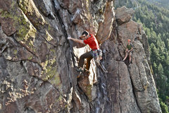 Rock Climbing Photo: Rob Kepley on P2 while Phil Lauffen holds the rope...