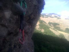 Rock Climbing Photo: This draw is hanging on Black Tuesday. The Fever c...