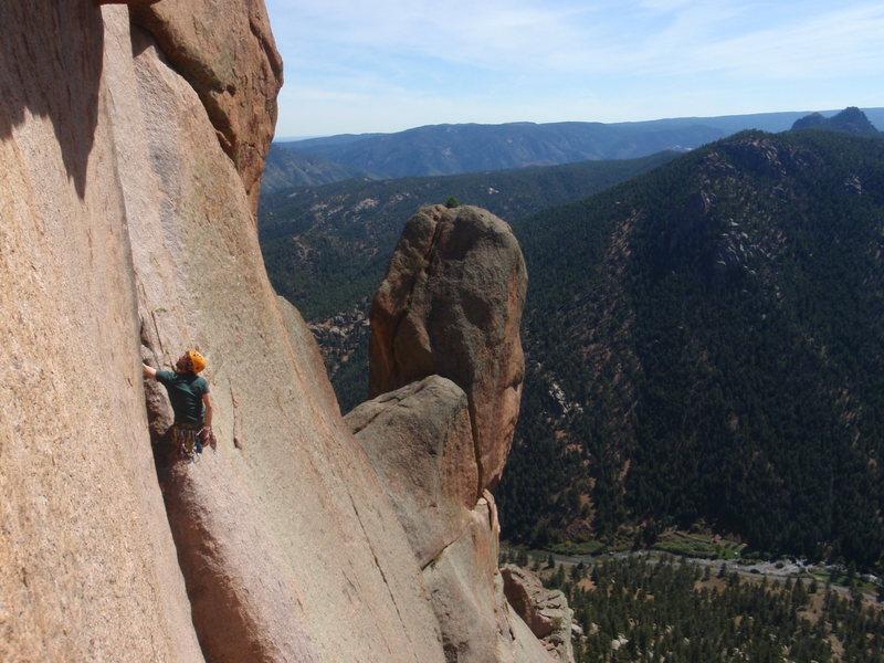 Rock Climbing Photo: Center Route, Cynical Pinnacle.