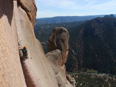 Rock Climbing Photo: Center Route, Cynical Pinnacle.
