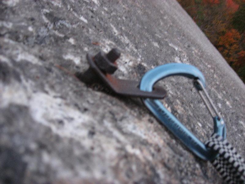 Rock Climbing Photo: Manky bolt