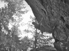 Rock Climbing Photo: Mike B on North Overhang.