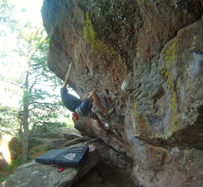 Rock Climbing Photo: Crux.