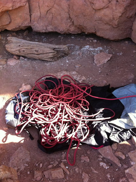 Rock Climbing Photo: rope pre climb