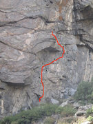 Rock Climbing Photo: Topo with bolt locations.