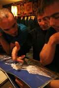 Rock Climbing Photo: The Catalan team planning a FA of the north face/m...