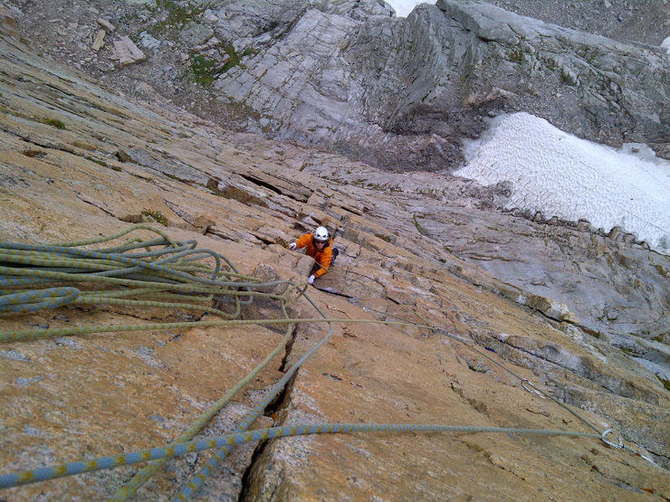 Rock Climbing Photo: Looking down Pervertical from midway.
