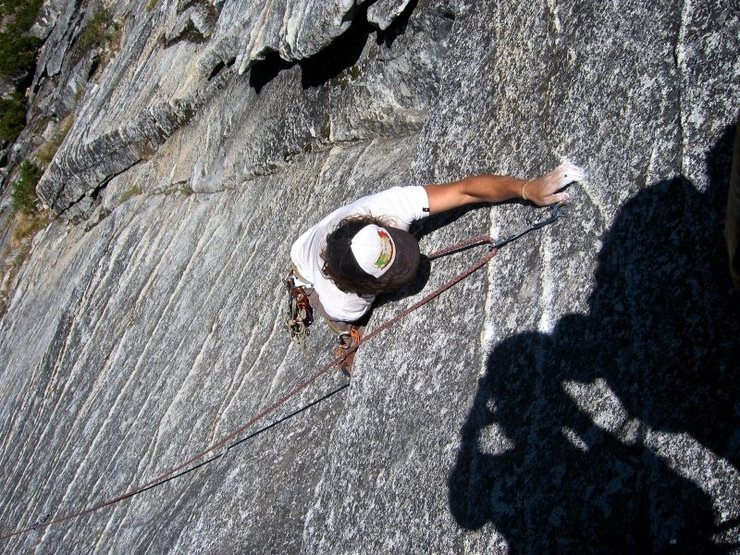 Rock Climbing Photo: Crux roof. I would not call it 5.8 more like 5.7