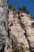 Rock Climbing Photo: July 4th, 5.10a Sunshine Wall Spearfish Canyon