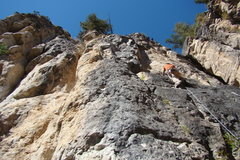 Rock Climbing Photo: This route has a really neat escape the pod sequen...