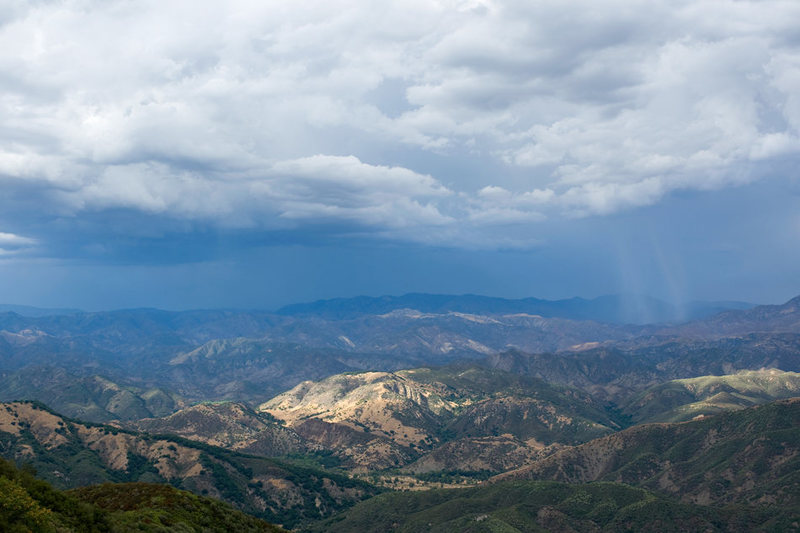 From Crag Full of Dynamite, the views to the north, into Los Padres National Forest, are spectacular.  The views alone may be reason enough to spend a day at this crag.
