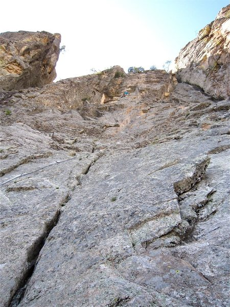 Rock Climbing Photo: It is a long long route.