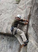Rock Climbing Photo: 1st pitch Orange Julius