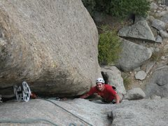 Rock Climbing Photo: Alan Ream enjoying the last rest before the busine...